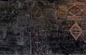 beauty is sometimes messy. a quantum physicists' chalkboard. series by alejandro guijarro.