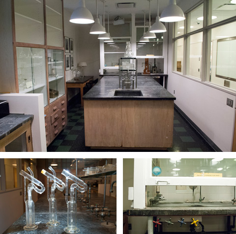 RU's historic lab space, located one the 1st floor of the Flexner research building.