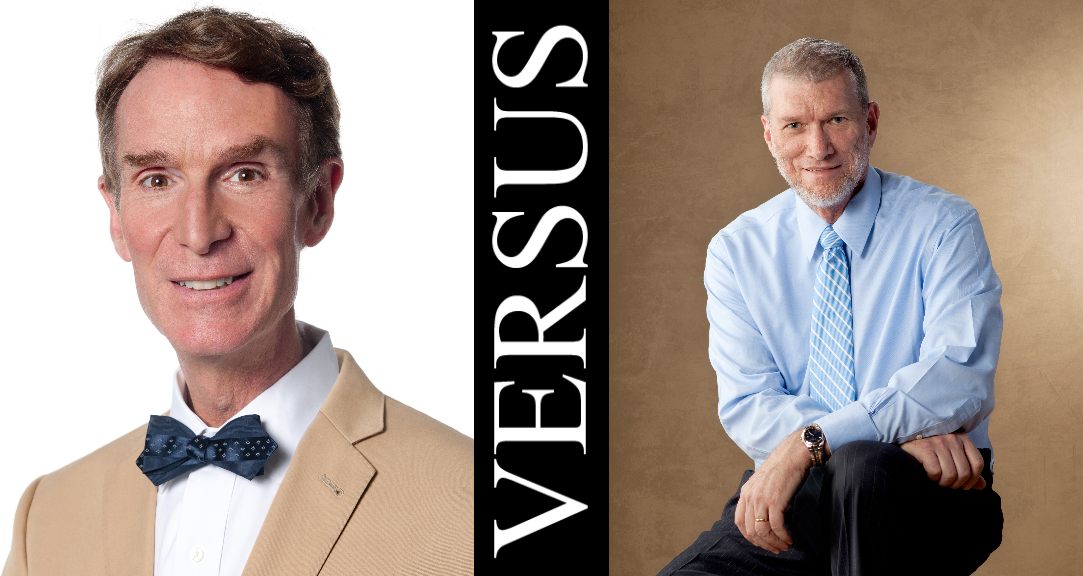 Bill Nye and Ken Ham. Images courtesy of BillNye.com and AnswersInGenesis.org